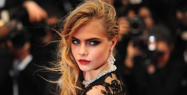 May 15, 2013 - Cannes, France: Cara Delevigne attends the premiere of 'The Great Gatsby' during the 66th Cannes film festival (Mehdi Chebil / Polaris)