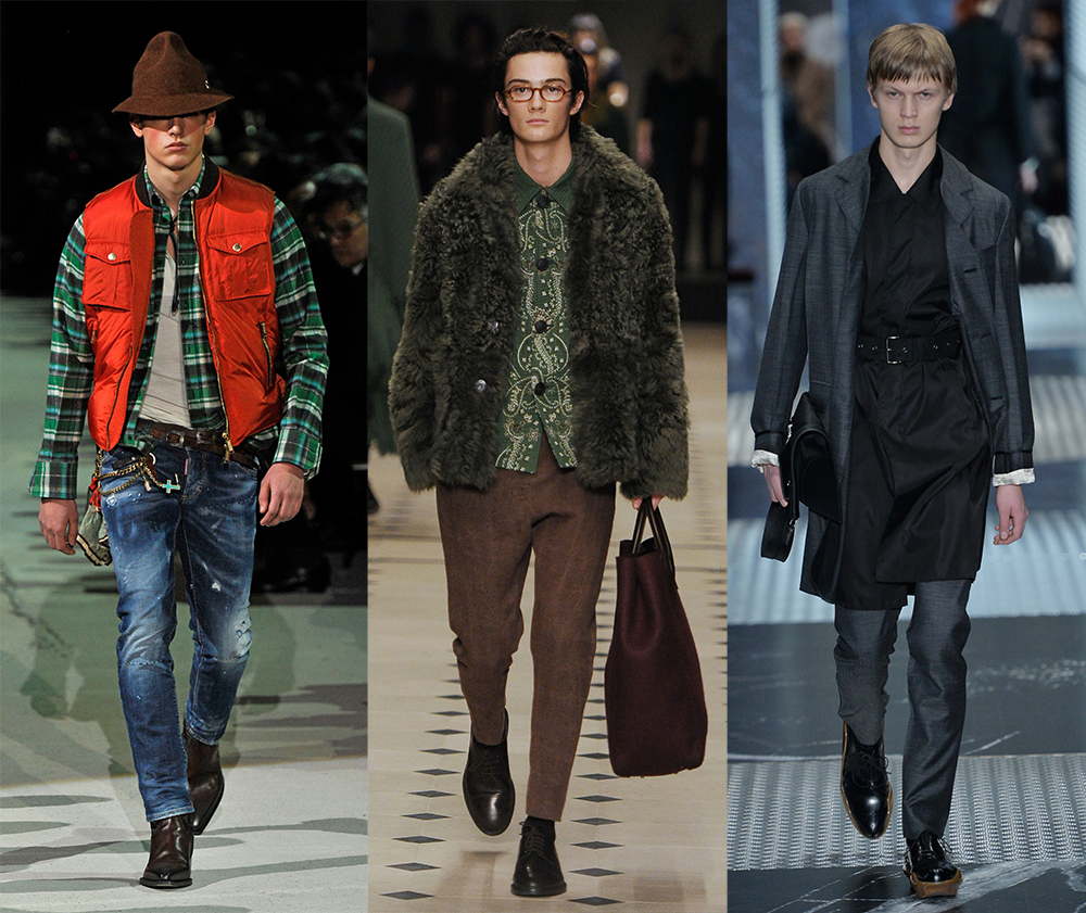 DSquared2, Burberry, Prada