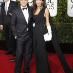 golden globe, золотой глобус, George Clooney and wife