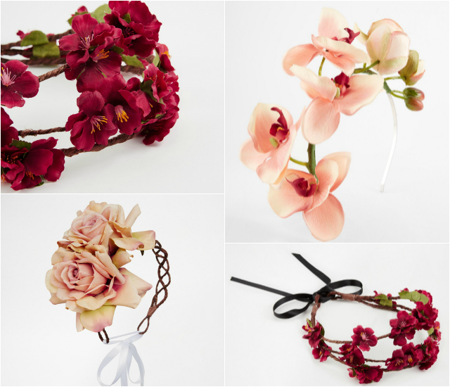Венок Rock N Rose Pink All Over Flower Garland, венок Rock 'N Rose Arabella, венок Rock N Rose Audrey Orchid Headband, все - loveshopping.com.ua