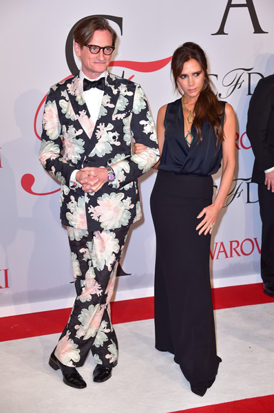 Виктория Бекхэм, Хэмиш Боулз,Hamish Bowles, Victoria Beckham, CFDA Fashion Awards, модные дизайнеры, премия