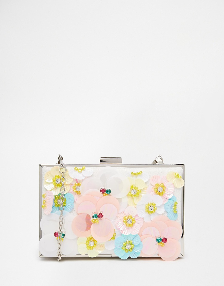 New Look Occasionwear 3D Floral Flower Box Bag