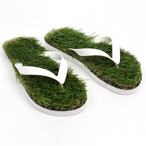 Slippers flip-flops with grass