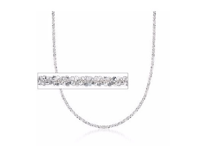 Italian 2mm Sterling Silver Diamond-Cut Rope Chain Necklace