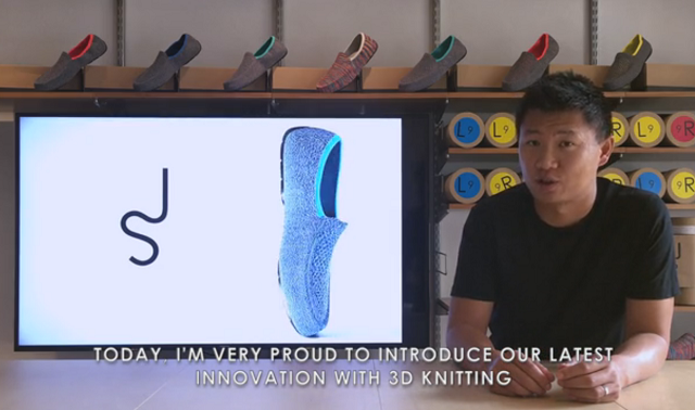 3-d knitted shoes
