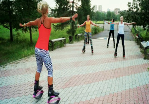 kangoo jumps, девушка, спорт