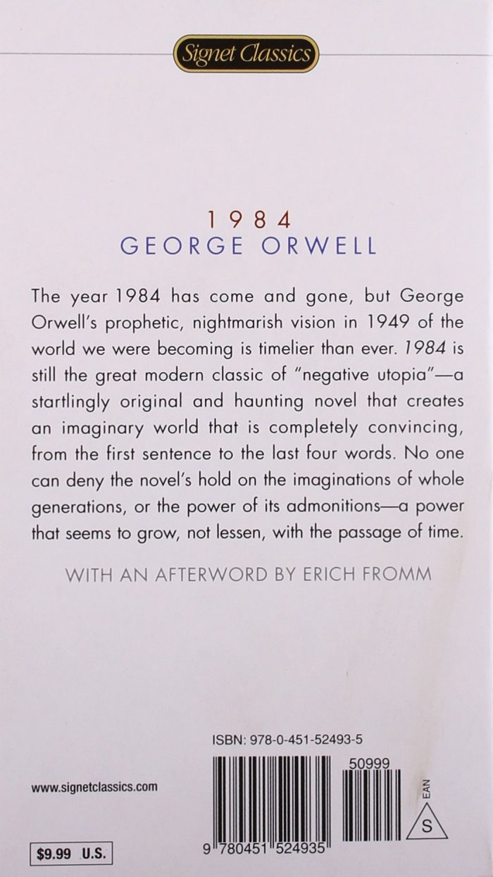 an analysis of the totalitarianism by george orwell and the preface of the 1956 signet classic editi Animal farm george orwell in his preface to the ukranian edition of animal farm, orwell originally published in 1956, hollis regards animal farm as a.
